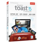 Corel® Roxio Toast 15 Titanium Software, Mac, CD/DVD (RTOT15MLMBAM)