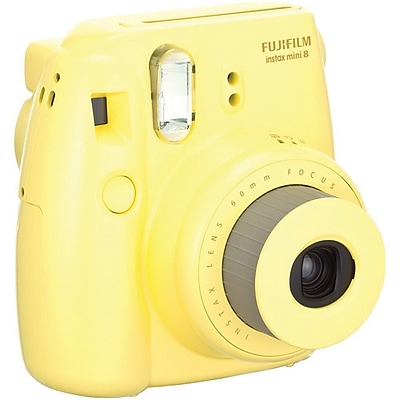 Fujifilm Instax Mini 8 Instant Film Camera Bundle, 60 mm, Yellow, 2/Pack