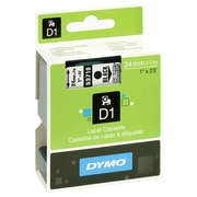 "Dymo D1 53710 1"" Label Tape, Black on Transparent"