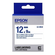 "Epson® LabelWorks LK-4WLN 1/2"" Thermal Transfer Data Cartridge Label, Blue On White"