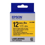 "Epson® LabelWorks LK-4YBW 1/2"" Thermal Transfer Data Cartridge Label, Black On Yellow"