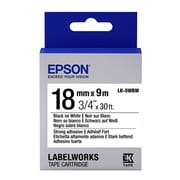 "Epson® LabelWorks LK-5WBW 3/4"" Thermal Transfer Data Cartridge Label, Black On White"