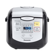 Panasonic® 4 Cup Microcomputer Controlled Rice Cooker, White/Silver (SR-ZC075W)