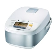 Panasonic® 5 Cup Microcomputer Controlled Rice Cooker, Stainless Steel/White (SR-ZG105)