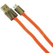 Fuse® 7673 3' Micro USB to USB Male/Male Flat Data Transfer Cable, Orange/Realtree Max 5 Camo