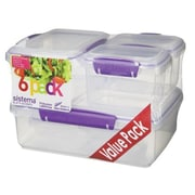 Sistema USA® Klip It™ 6 Piece Food Storage Container Set, Clear (61761)