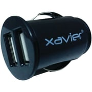 Xavier Car-USB 2-port USB Car Charger, Black