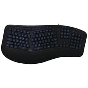 Adesso Akb-150eb Tru-form 150 3-color Illuminated Ergonomic Keyboard