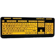 Adesso Akb-132uy Easytouch 132 Luminous Large-print Desktop Keyboard