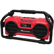 Pyle Pro Pjsr350rd Industrial Boombox Rugged Bluetooth® Speaker (red)
