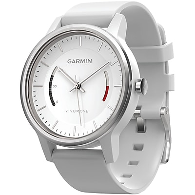 Garmin 010 01597 03 Vivomove Smart Watch sport Band; White