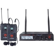 NADY U-2100 LT/O (BAND A/B) UHF Dual 100-Channel Wireless Lavalier Handheld Microphone System