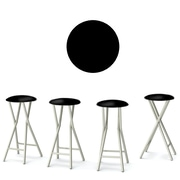 Best of Times Coffee 30'' Bar Stool (Set of 4); Black