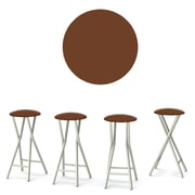 Best of Times Coffee 30'' Bar Stool (Set of 4); Brown