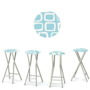Best of Times It's A Boy 30'' Bar Stool (Set of 4); Blue