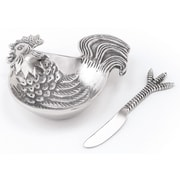Star Home Rooster Dip Dish and Spreader (Set of 2)
