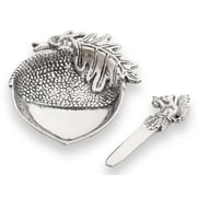 Star Home Acorn Dip Dish and Spreader (Set of 2)