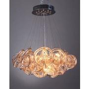 Viz Glass Infinity 5-Light Cluster Pendant; Champagne