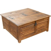 MOTI Furniture Troy Coffee Table with Lift Top; Honey