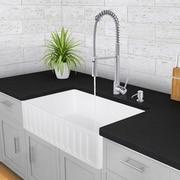 Vigo 33 inch Farmhouse Apron Single Bowl Matte Stone Kitchen Sink