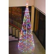 Homebrite Solar String Light Cone Tree Christmas Decoration w/ Multi-colored Lights