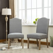 Roundhill Furniture Mod Urban Style Parson Chair (Set of 2); Gray
