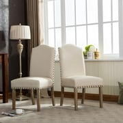 Roundhill Furniture Mod Urban Style Parson Chair (Set of 2); Tan