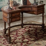 Butler Connoisseur's Demilune Writing Desk with Leather Top