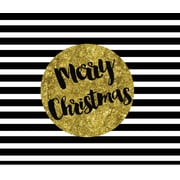 Secretly Designed 'Black, White and Gold Merry Christmas' Graphic Art