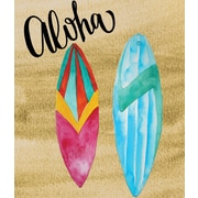 Secretly Designed 'Aloha Surf Board' Painting Print