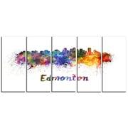 DesignArt Metal 'Edmonton Skyline' Painting Print