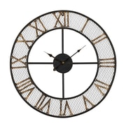 UtopiaAlley Rustic Living 24'' Mesh Roman Wall Clock