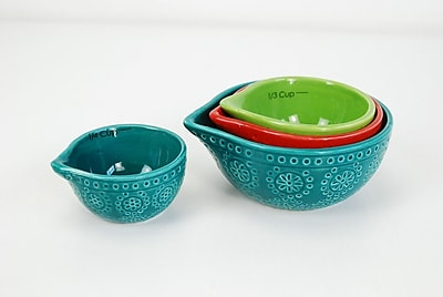 DrewDeRoseDesigns 8 Piece Ceramic Measuring Cups and Spoons Set WYF078279335054