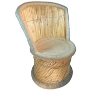 Natural Geo Moray Jute Side Chair with Cushion
