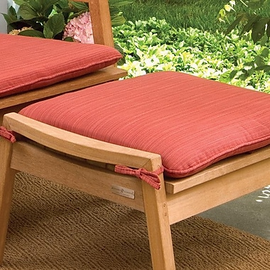 Oxford Garden Siena Outdoor Ottoman Cushion; Dupione Papaya