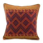 Novica Traditional Symmetry Cotton Pillow Cover