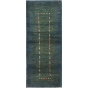 ECARPETGALLERY Kashkuli Gabbeh Hand-Knotted Green Area Rug