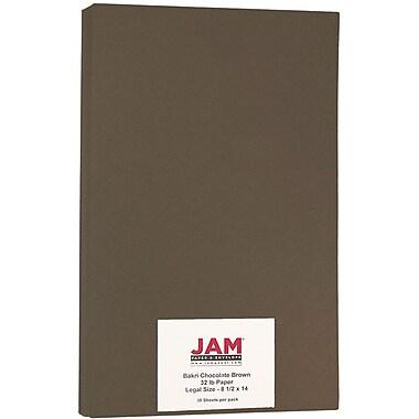 JAM PaperMD – Papier Bakri de format légal, 8 1/2 x 14 po, 32 lb, brun chocolat, paquet de 50