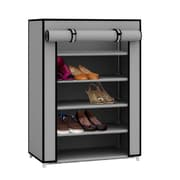 Sunbeam 5 Tier 15 Pair Shoe Closet with Dustfree Cover in Grey