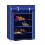 Sunbeam 5 Tier 15 Pair Shoe Closet with Dustfree Cover in Navy