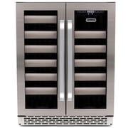 Whynter Elite 40 Bottle Dual Zone Built-In, Stainless Steel Wine Refrigerator (BWR-401DS)