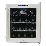 Whynter WC-16S Freestanding 16 Bottles Wine Cooler - Platinum with lock