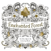 "Chronicle Adult Colouring Book ""Enchanted Forest"", Softcover"