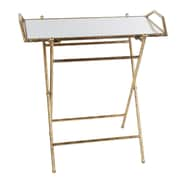 Privilege Folding Tray Table; Gold