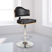 Homegear Riu Adjustable Height Swivel Bar Stool; Black