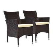 Bienal Bora Dining Arm Chair with Cushion (Set of 2); Espresso