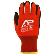 Apollo Tool Grabber™ Touch Screen Glove, Nylon / Lycra With Nitrile / PU Coating, Small, Red