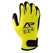 Apollo Tool Grabber™ Hi Viz Touch Screen Glove, Nylon Lycra With Foam Nitrile Coating, Adj. Wrist Closure, Large, Yellow