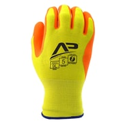 Apollo Material Handlers™ Hi Viz Glove, Touch Screen, Bamboo Knit With Gripping Dots, X-Large, Yellow / Orange