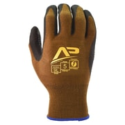 Apollo Package Handlers™ Professional Glove, Touch Screen, Bamboo Knit With Gripping Dots, X-Large, Brown